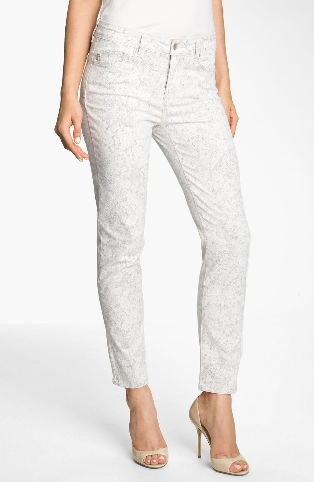 Alternate Image 1 Selected - NYDJ 'Alisha' Lace Print Ankle Jeans