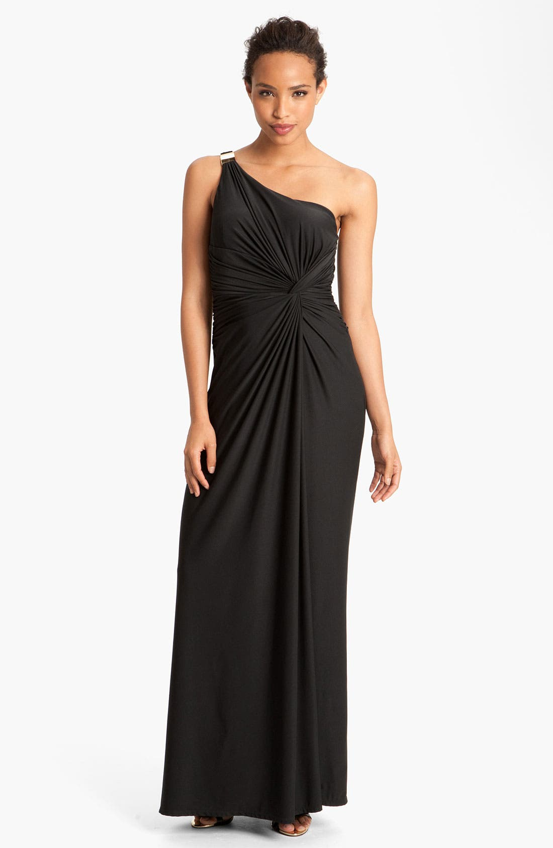 Main Image - Max & Cleo 'Jenny' One Shoulder Jersey Gown