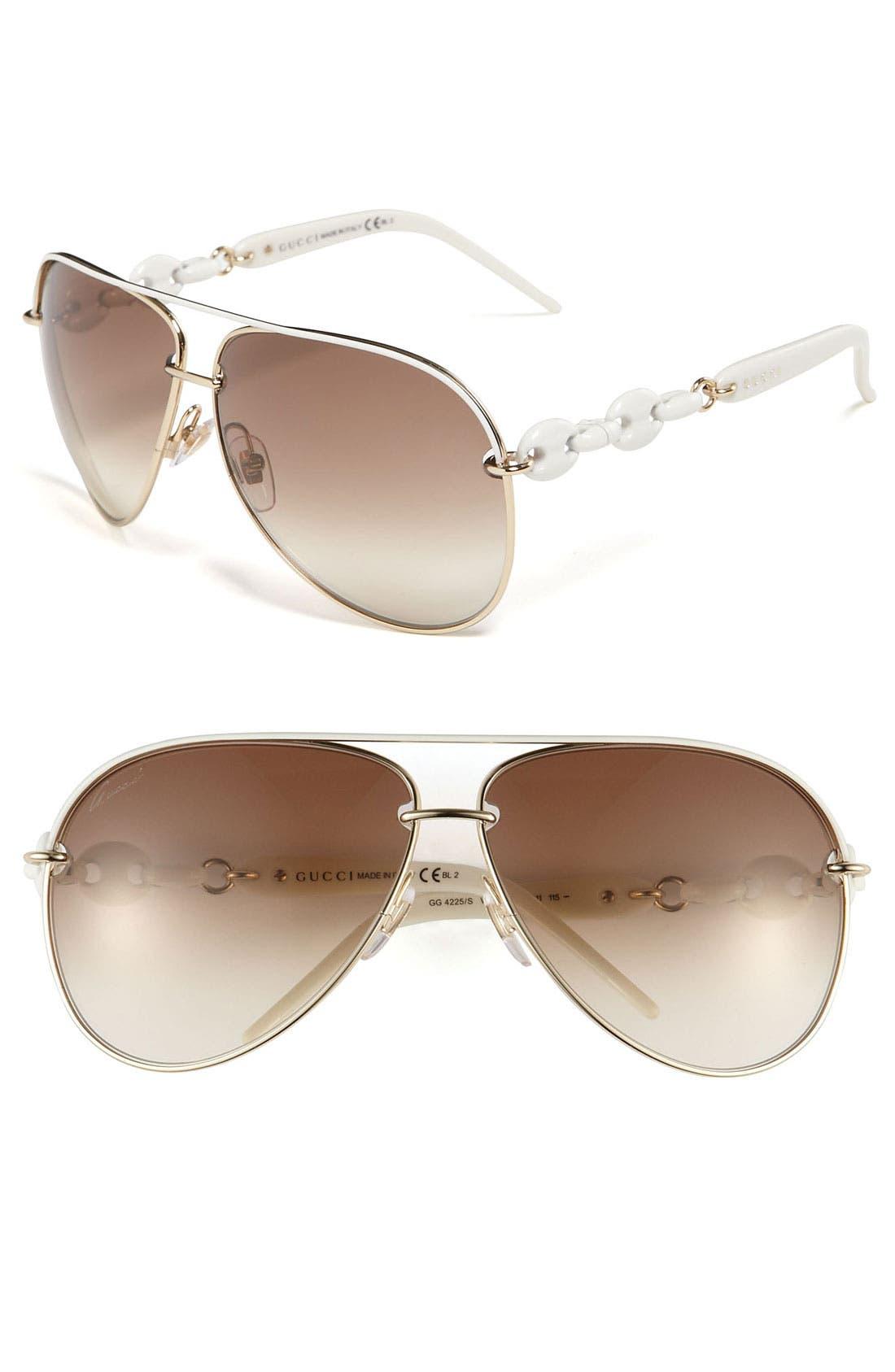 Alternate Image 1 Selected - Gucci 'Marina Chain' 63mm Aviator Sunglasses