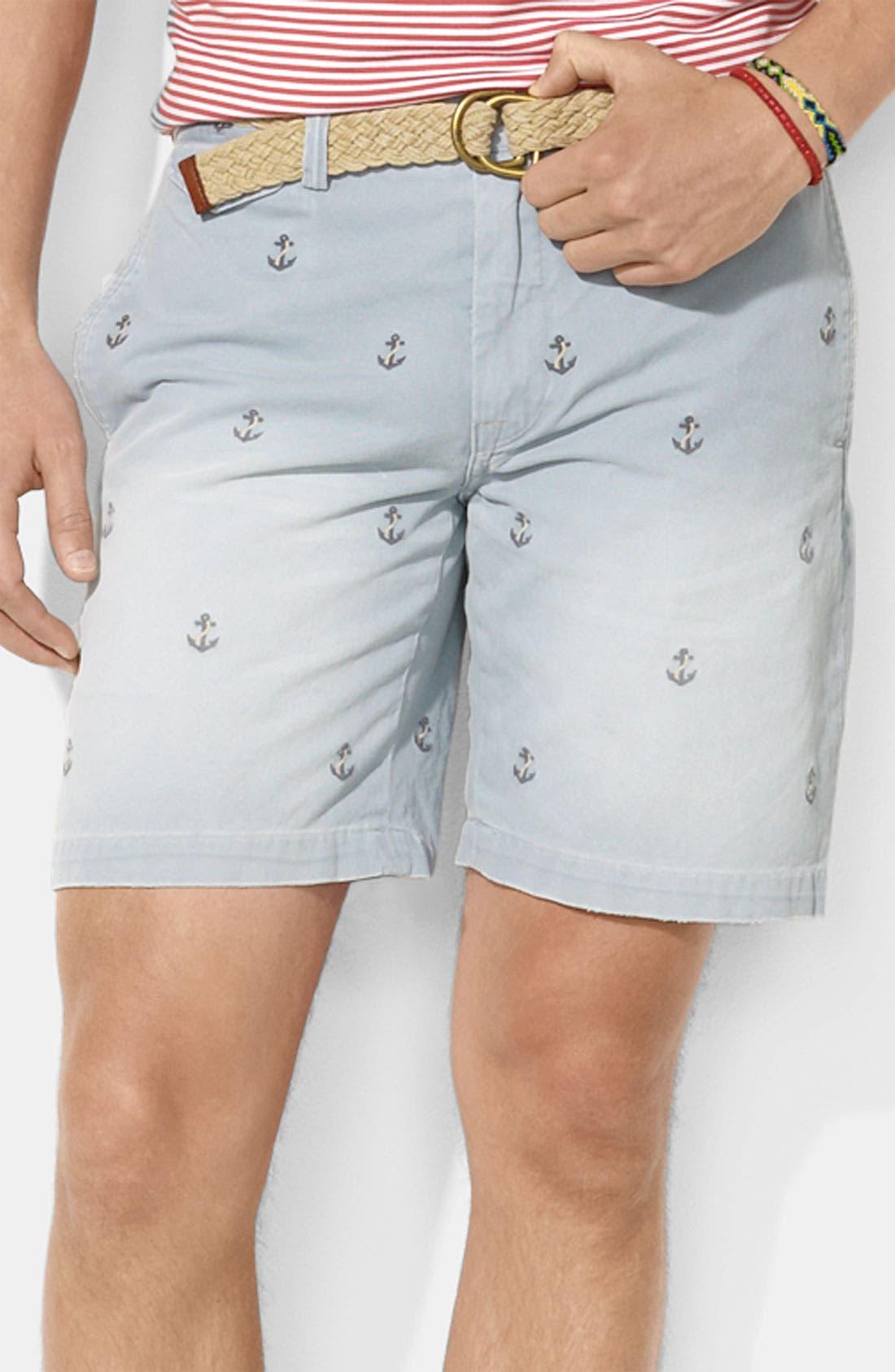 Main Image - Polo Ralph Lauren Flat Front Shorts