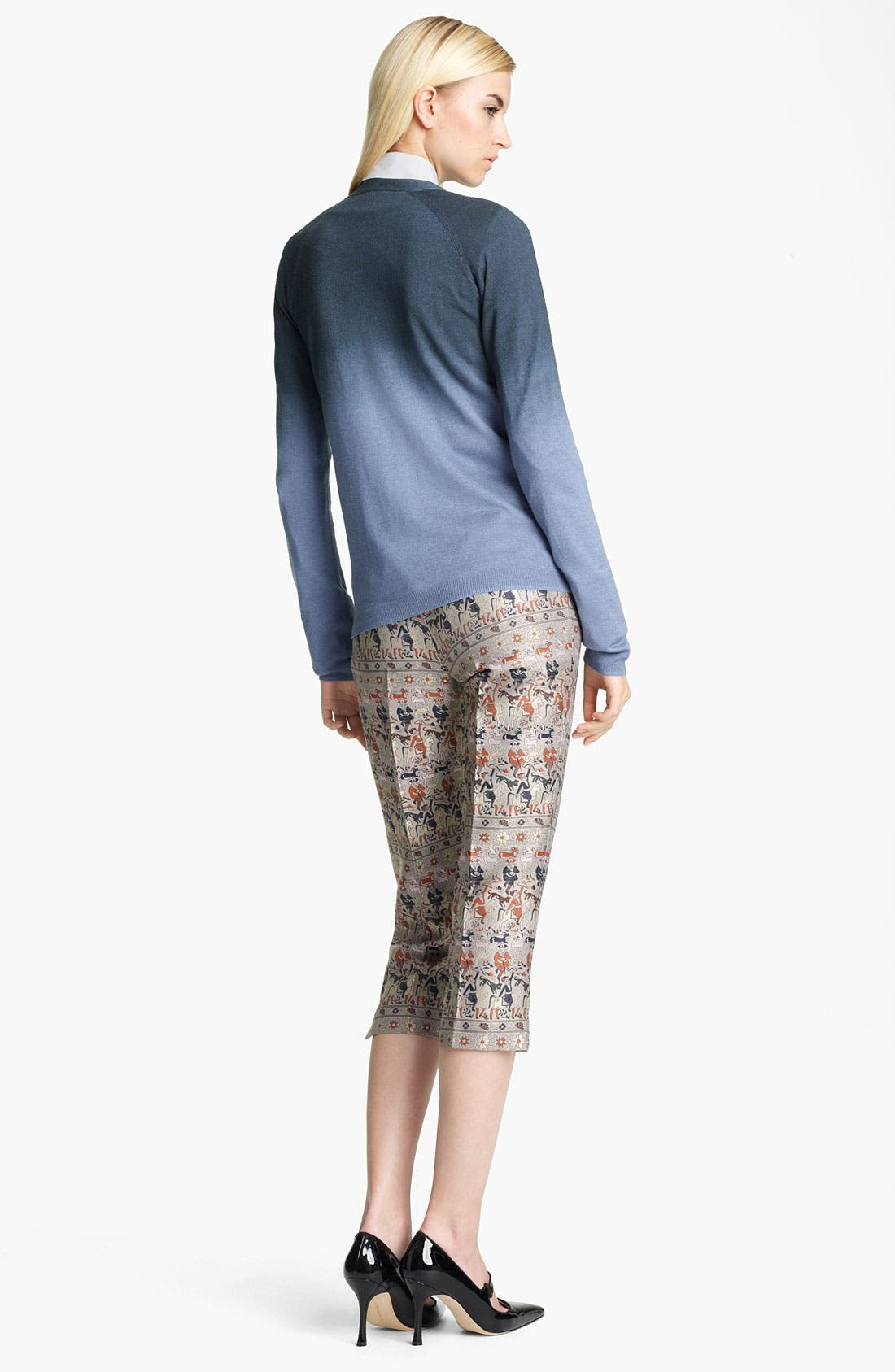 Alternate Image 3  - Jil Sander Navy Crop Straight Leg Jacquard Pants