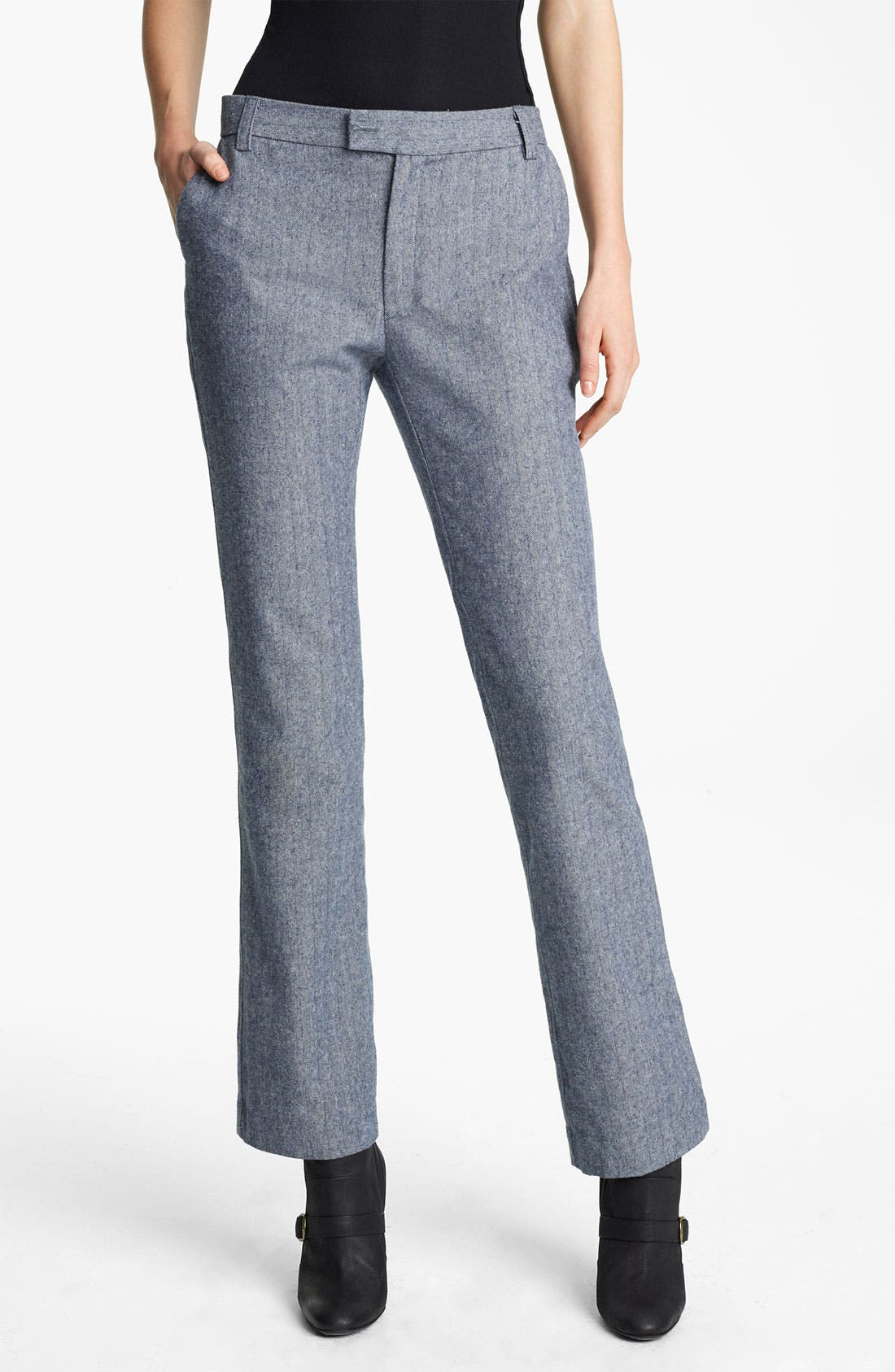 Alternate Image 1 Selected - Band of Outsiders Straight Leg Herringbone Pants