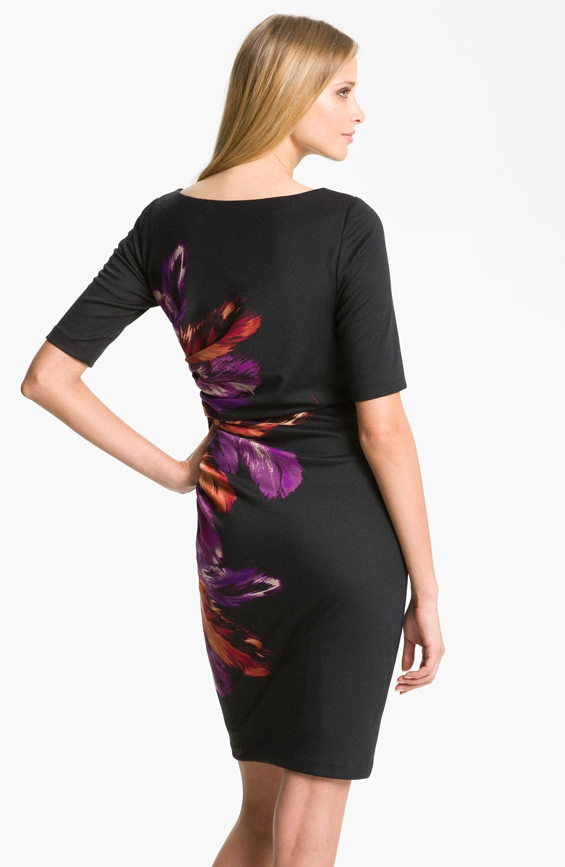Alternate Image 2  - Maggy London 'Feather' Print Ponte Sheath Dress