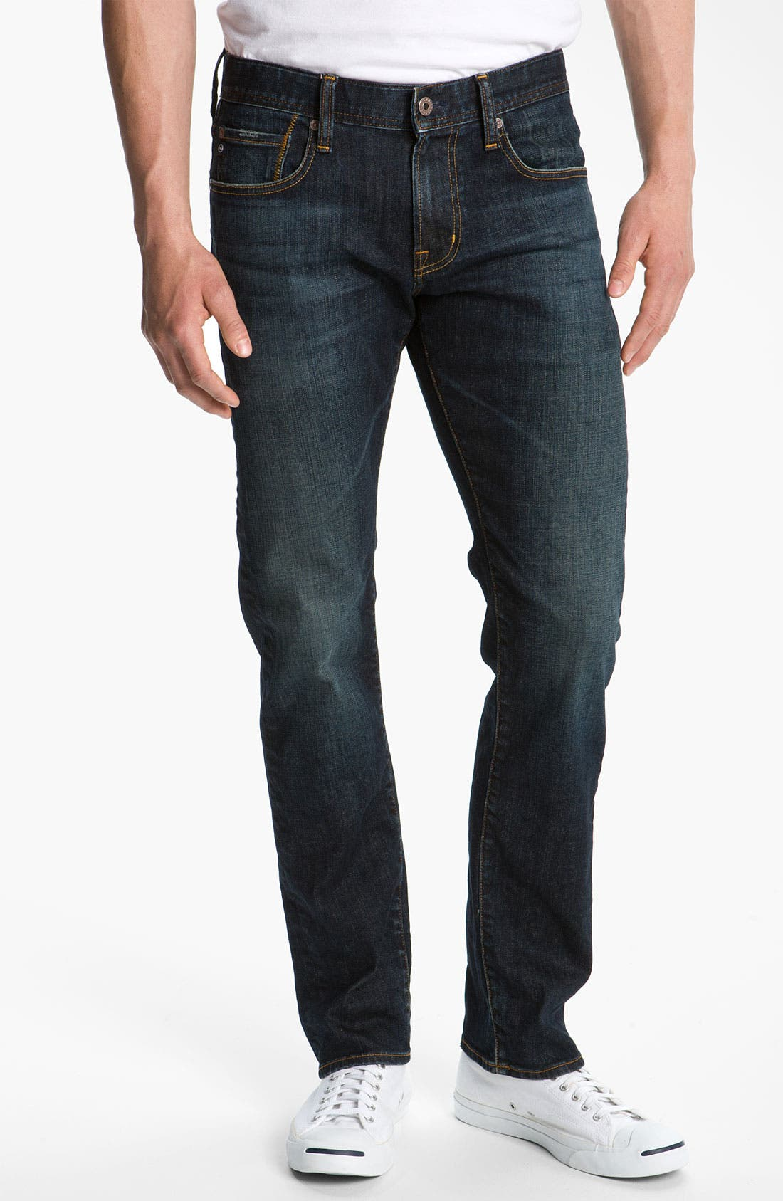 Alternate Image 1 Selected - AG Jeans 'Geffen Easy Slim' Straight Leg Jeans (Roast)