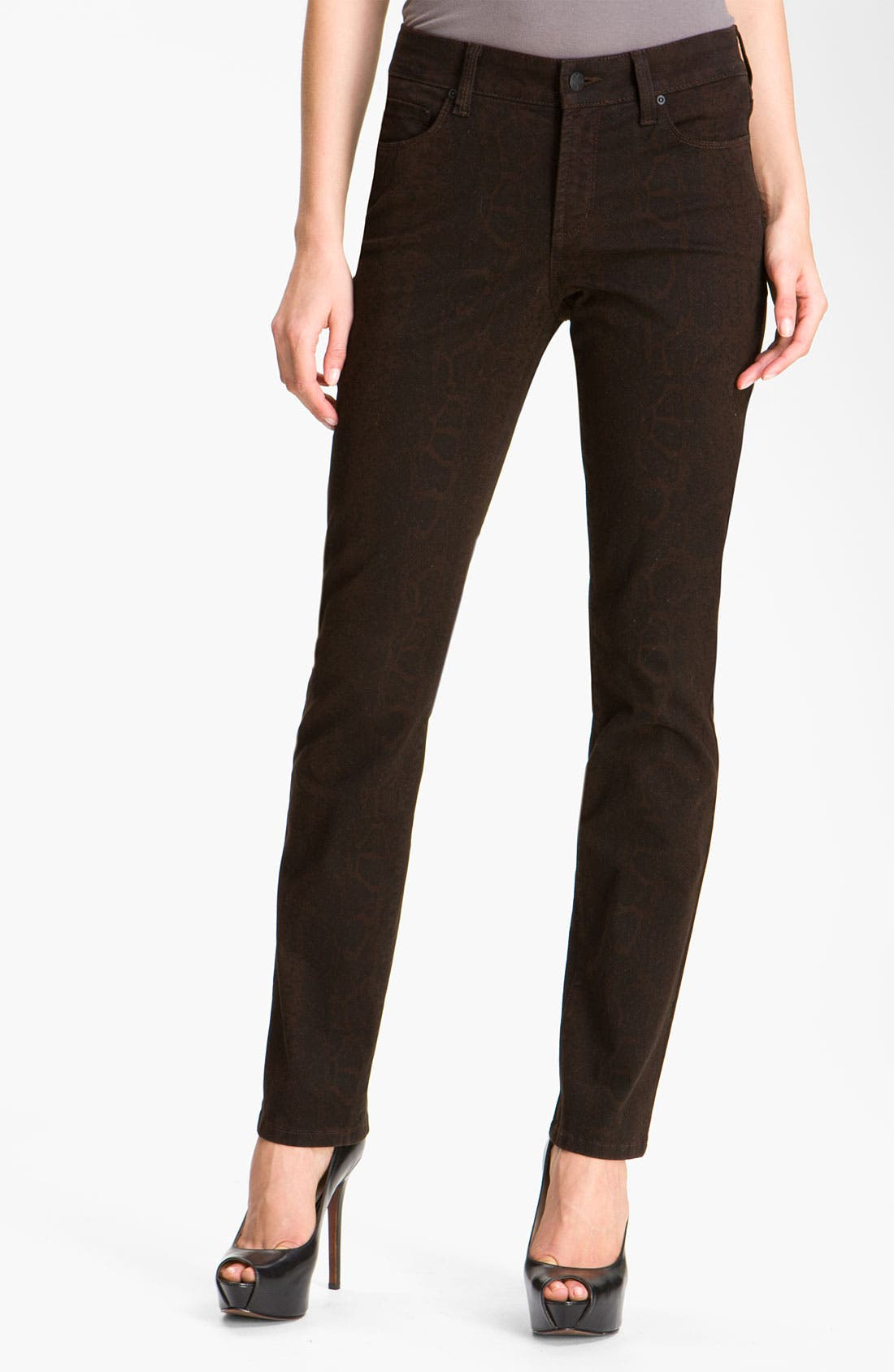 Alternate Image 1 Selected - NYDJ 'Sheri' Python Print Skinny Twill Jeans