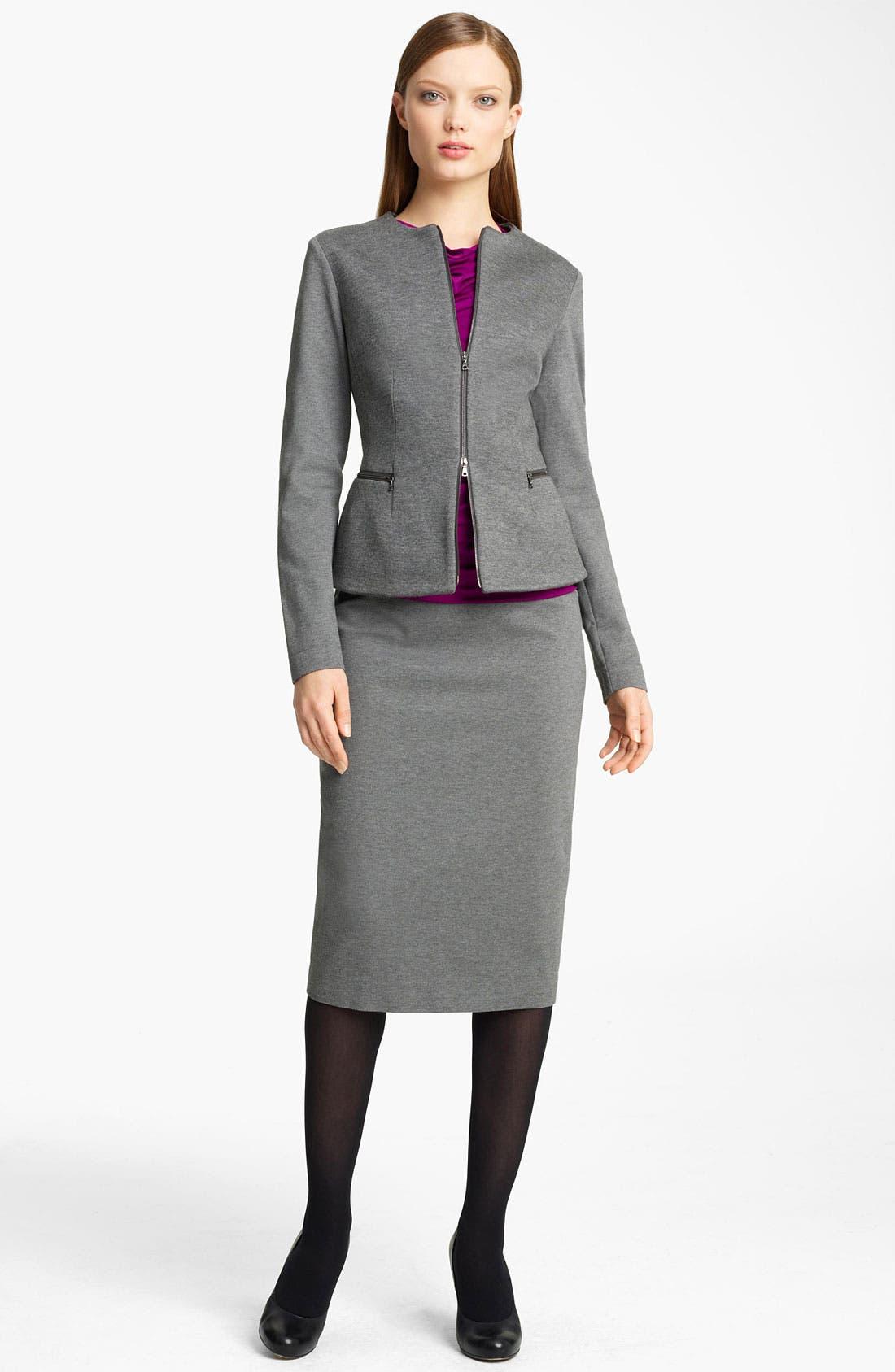 Alternate Image 4  - Lida Baday Bonded Jersey Jacket
