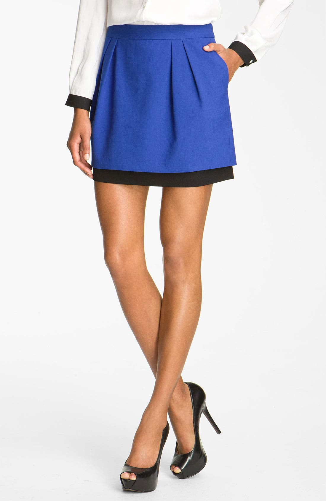 Alternate Image 1 Selected - Vince Camuto Double Layer Skirt