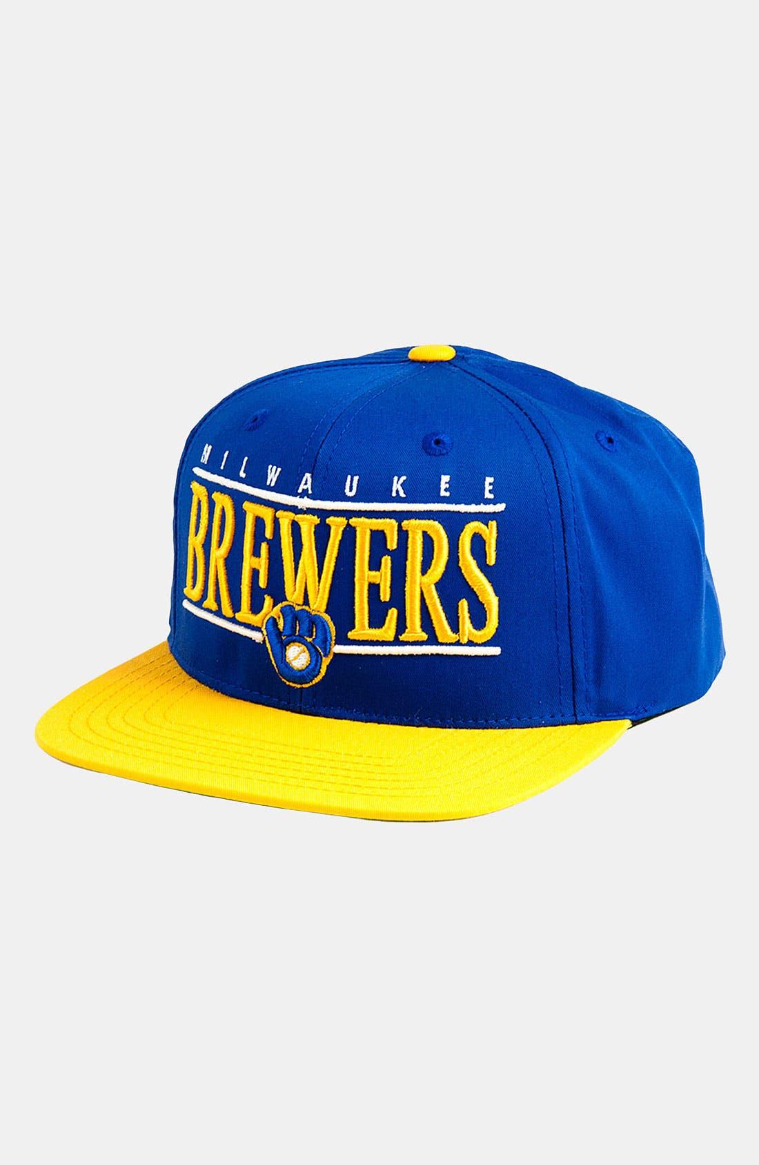 Main Image - American Needle 'Milwaukee Brewers - Nineties' Twill Snapback Baseball Cap