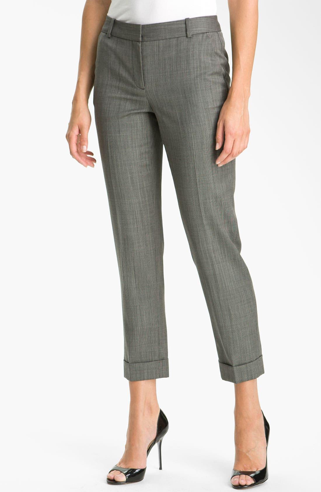 Alternate Image 1 Selected - Classiques Entier® 'Minuet' Textured Ankle Pants