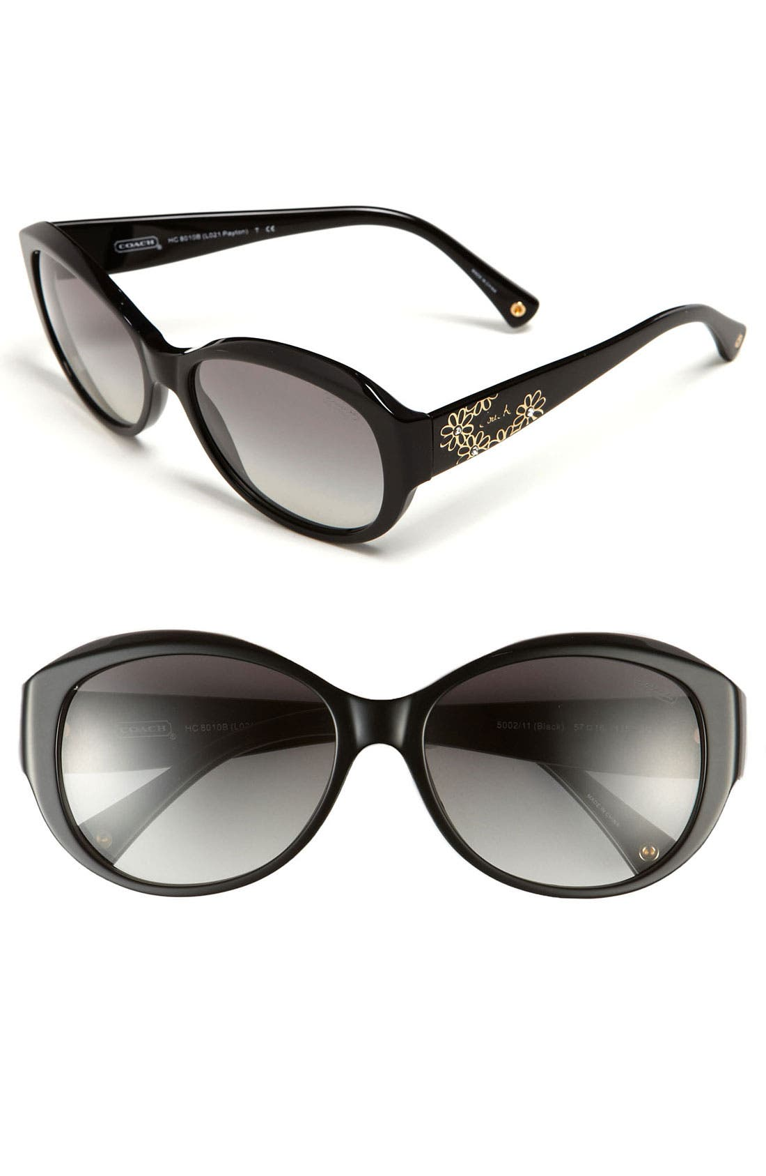 Alternate Image 1 Selected - COACH Flower Temple Sunglasses