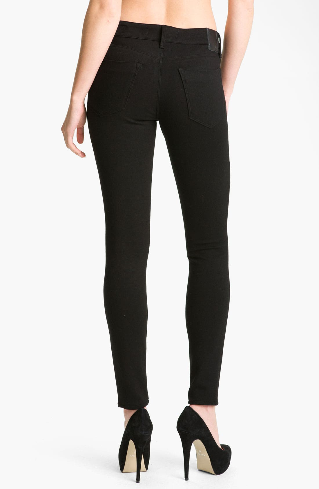 Alternate Image 2  - Dylan George 'Runway' Mid Rise Stretch Knit Leggings