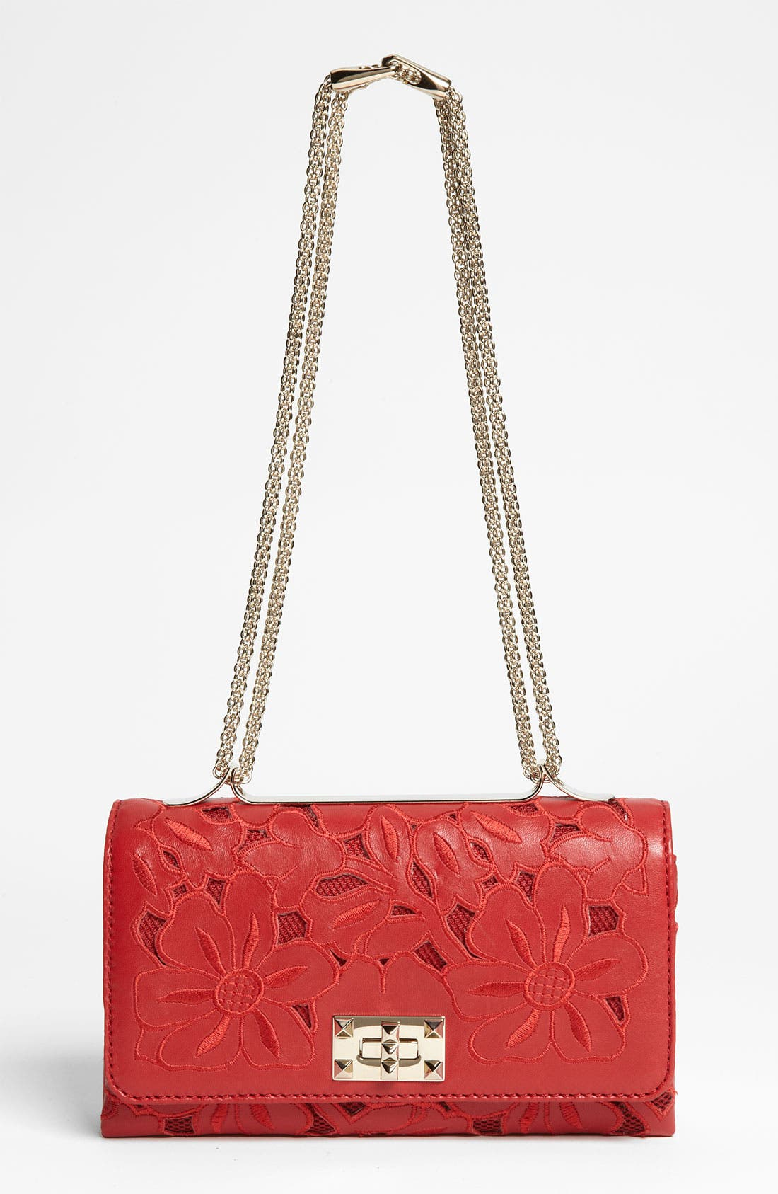Alternate Image 1 Selected - Valentino 'Girello Flap' Leather Shoulder Bag