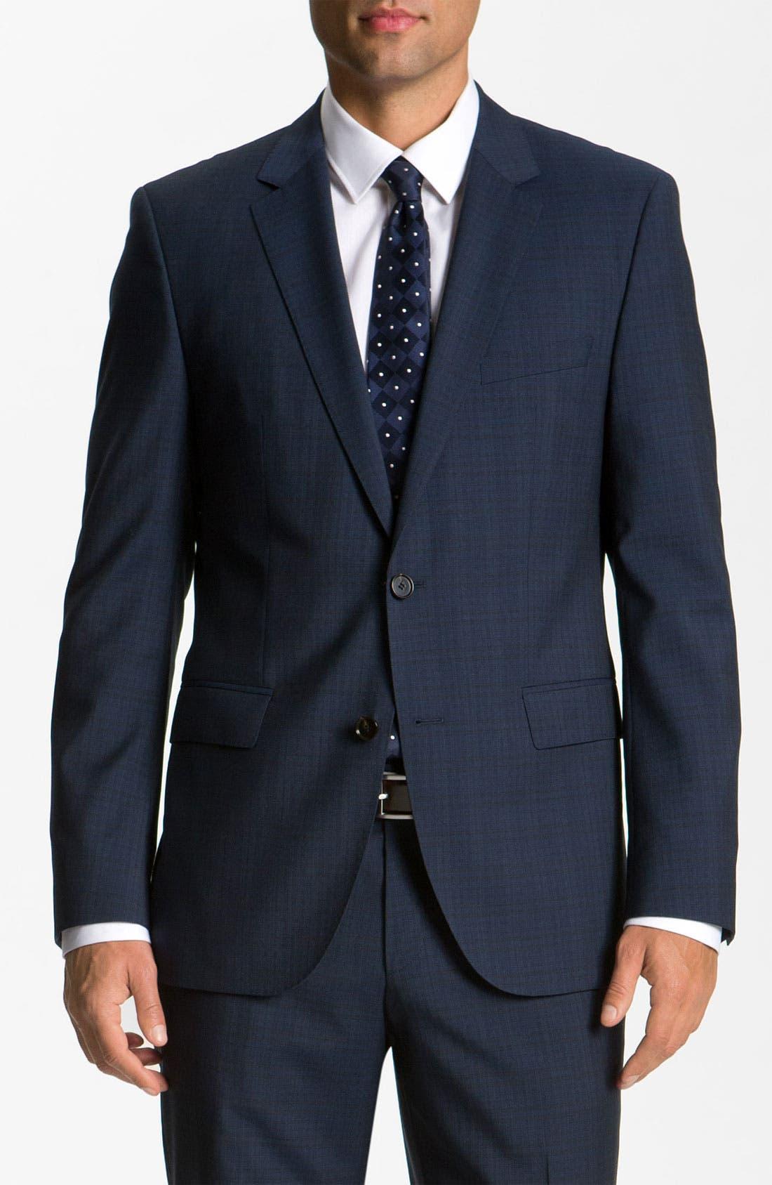 Alternate Image 1 Selected - BOSS Black 'James/Sharp' Trim Fit Wool Suit