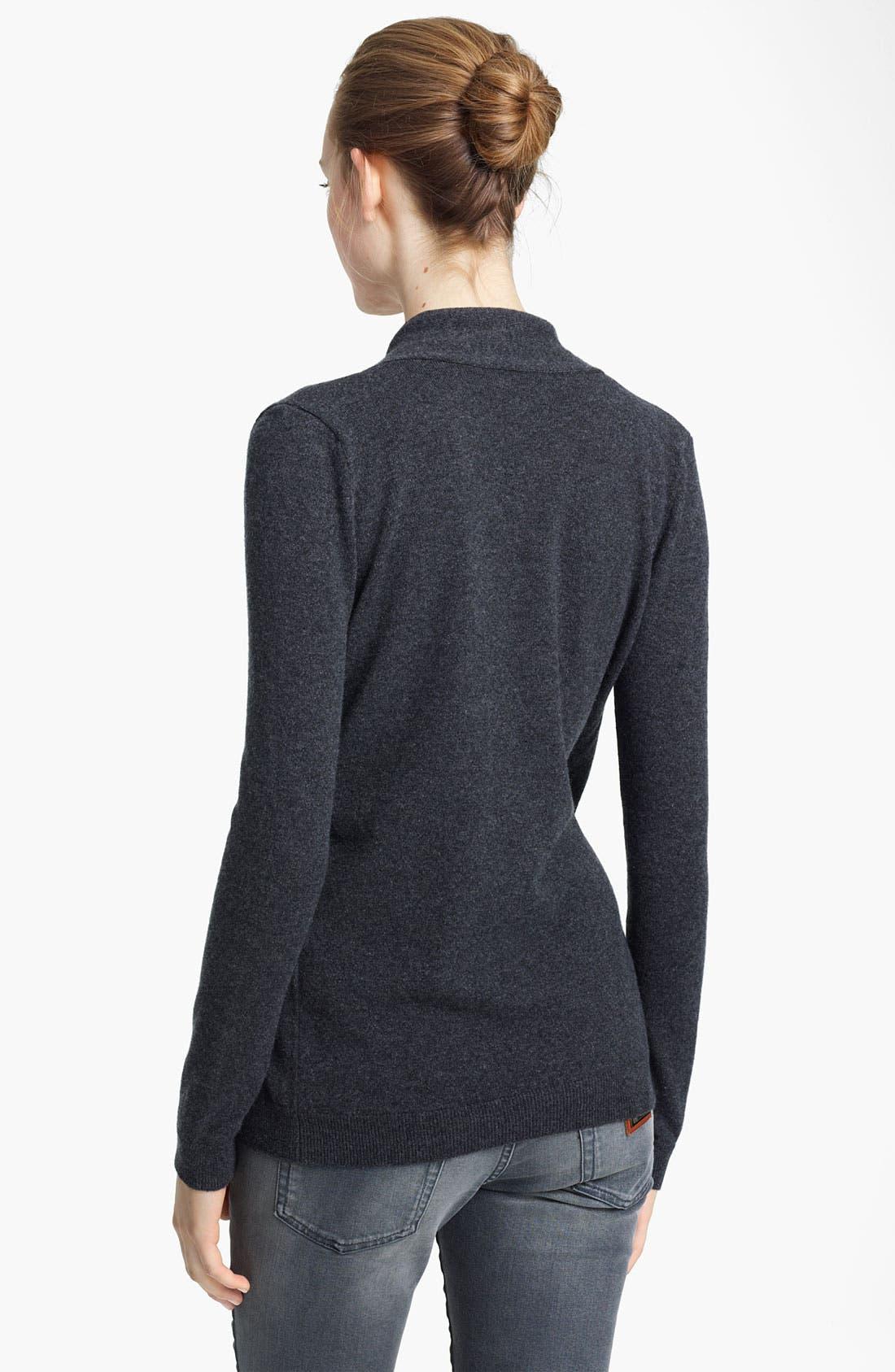 Alternate Image 2  - Dolce&Gabbana Cashmere Cardigan with Embellished Pin