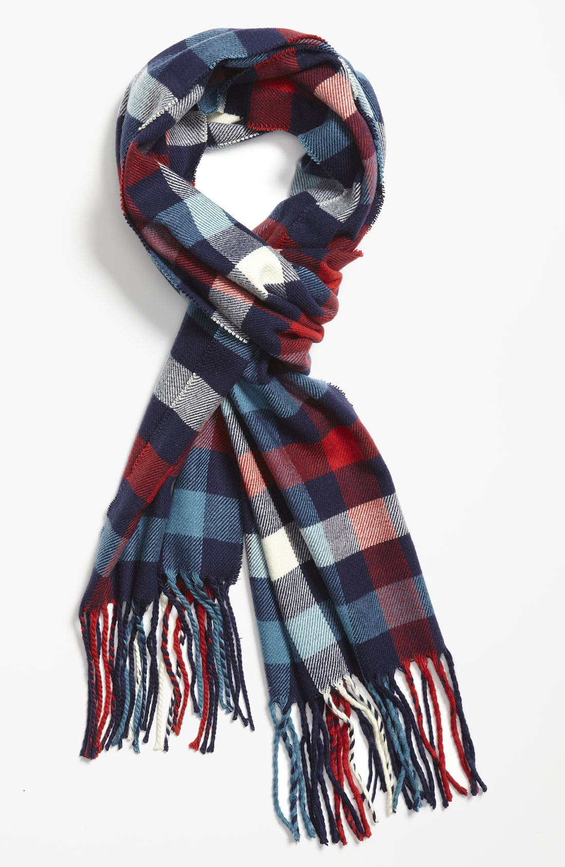 Main Image - Free Authority Americana Plaid Knit Scarf