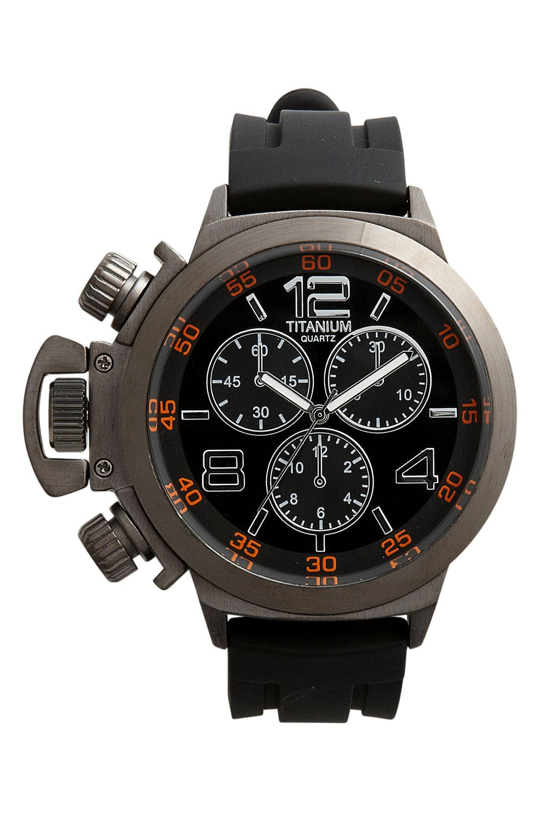 Main Image - Titanium Oversized Chronograph Watch
