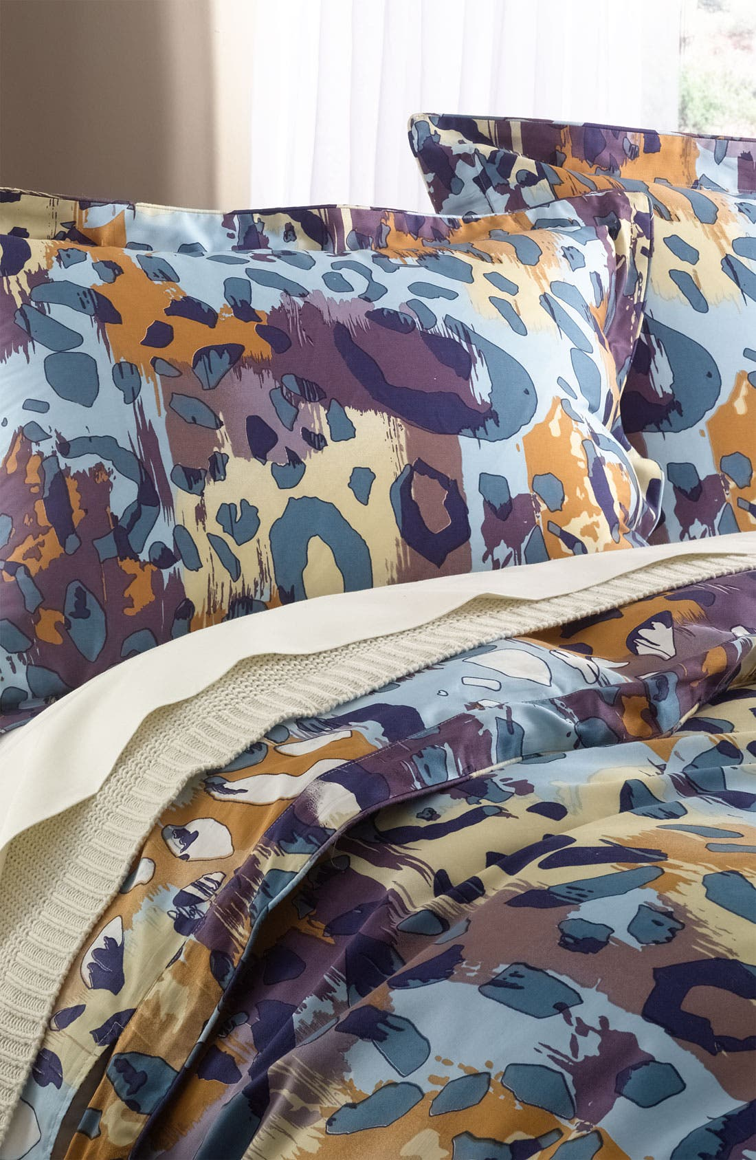 Alternate Image 1 Selected - Diane von Furstenberg 'Paper Cheetah' 300 Thread Count Pillow Sham