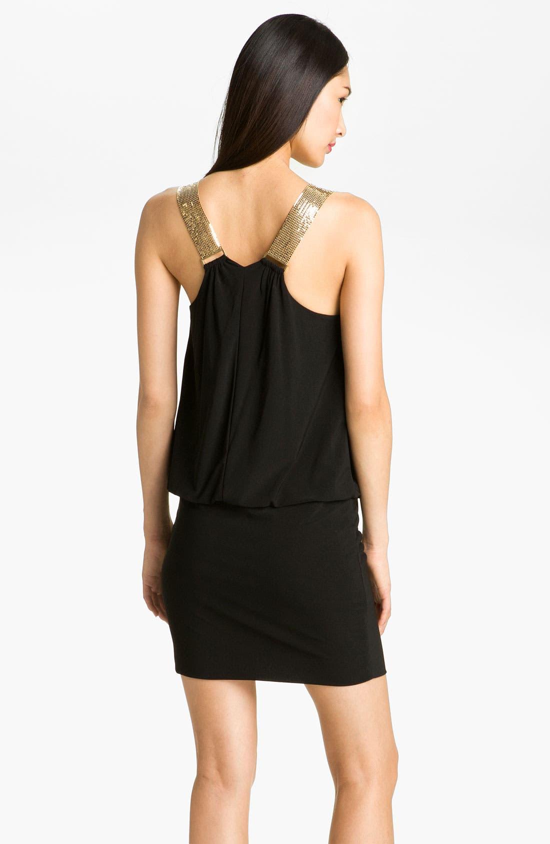 Alternate Image 2  - Betsy & Adam Chain Mail Strap Jersey Blouson Dress