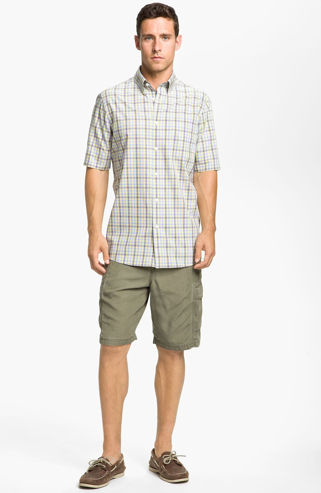 Alternate Image 4  - Nordstrom Smartcare™ Poplin Sport Shirt