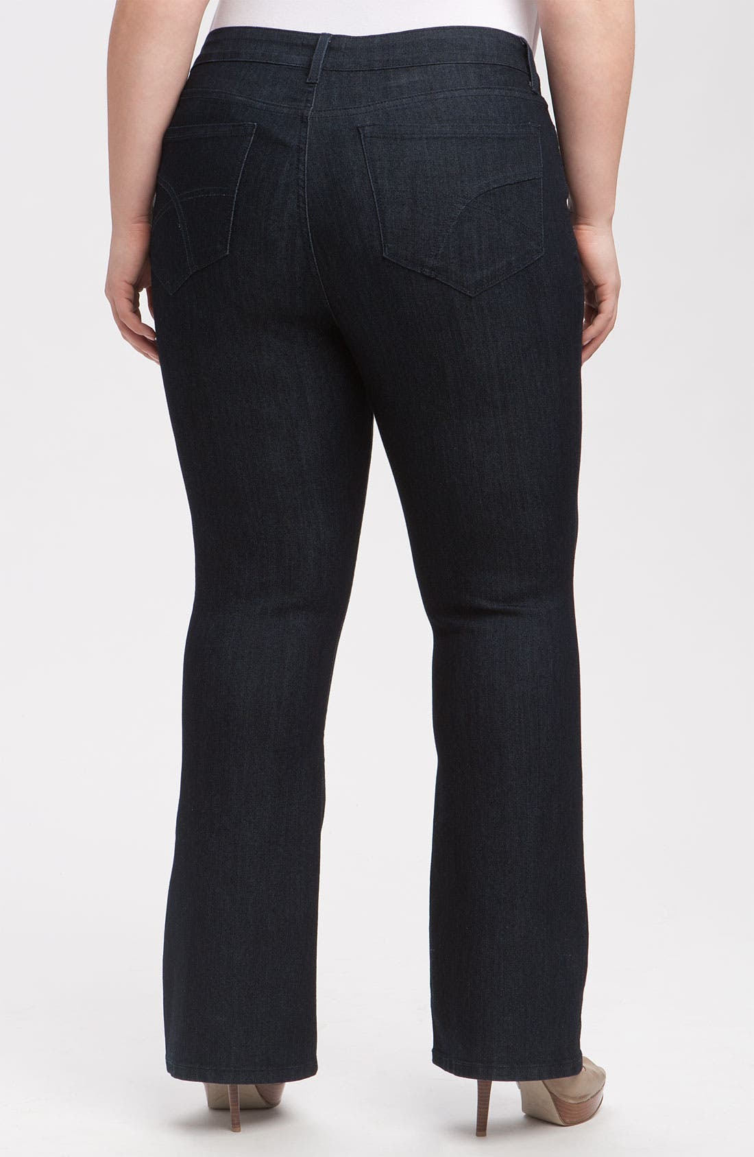 Alternate Image 2  - NYDJ 'Barbara' Stretch Bootcut Jeans (Dark Enzyme) (Petite Plus Size)