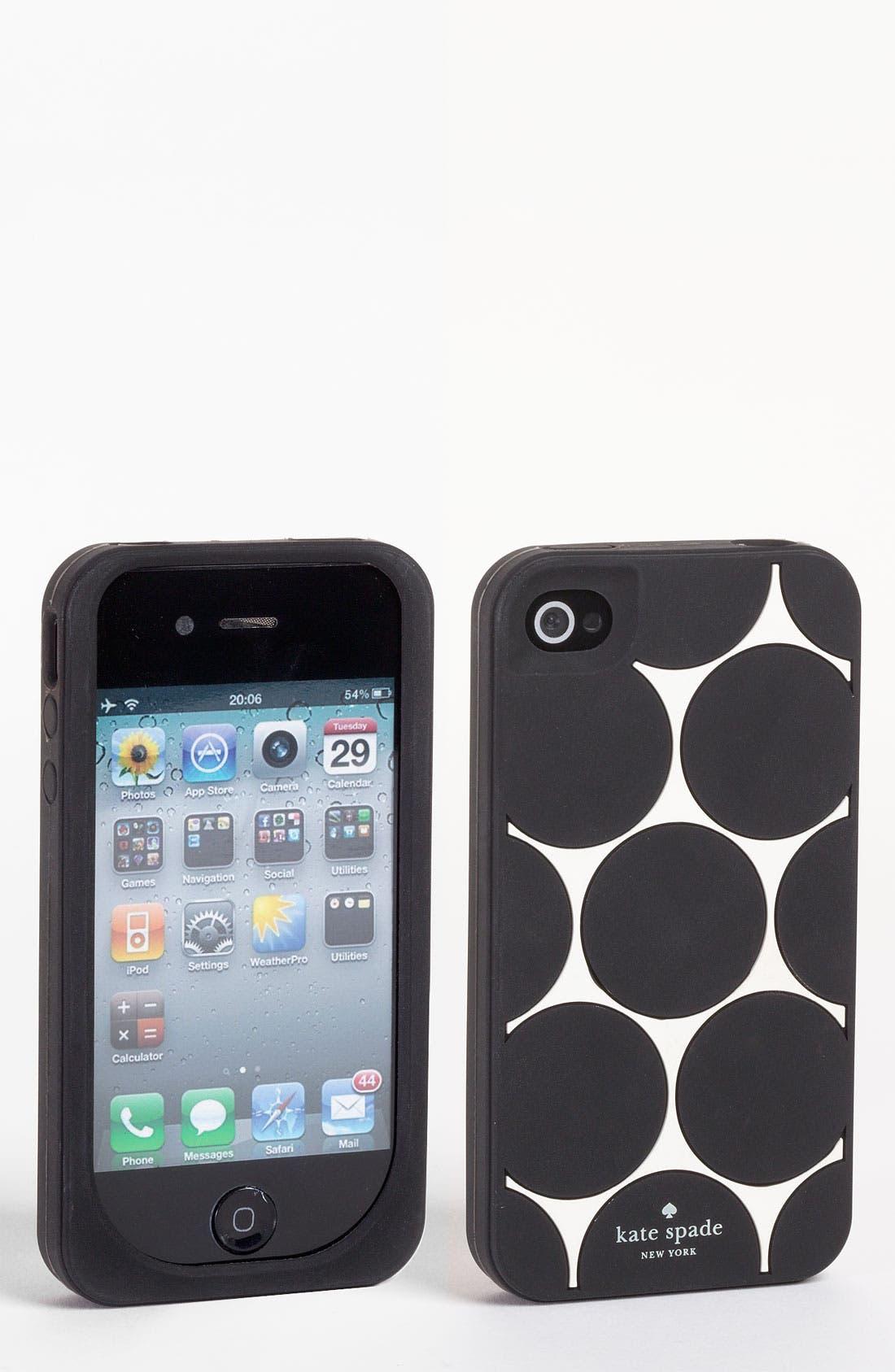 Alternate Image 1 Selected - kate spade new york 'deborah dot'  iPhone 4 & 4S case