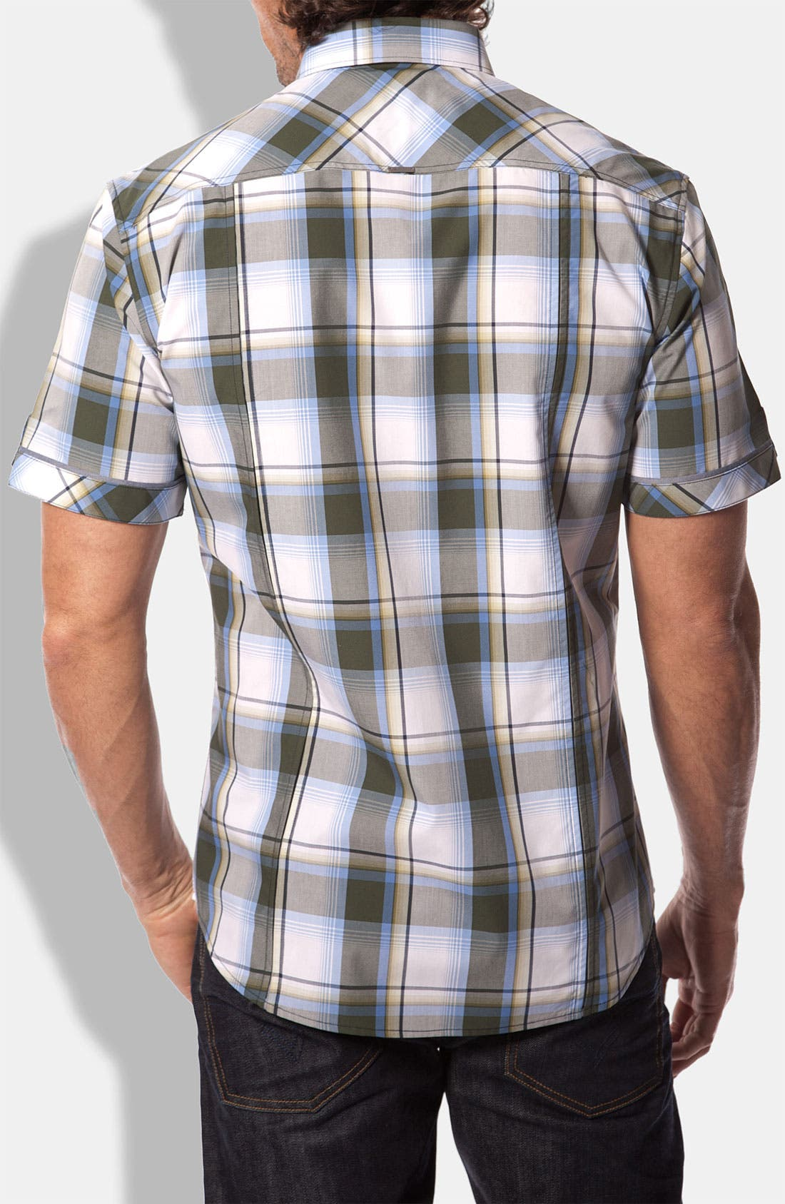 Alternate Image 2  - 7 Diamonds 'Come Here My Dear' Plaid Woven Short Sleeve Shirt