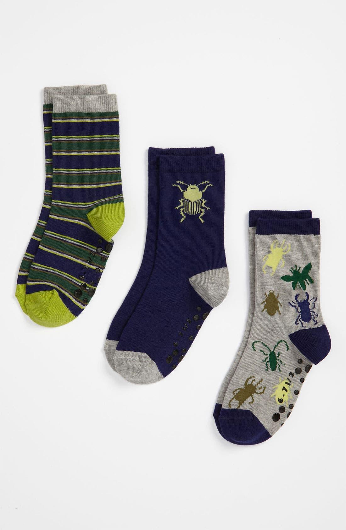 Main Image - Nordstrom 'Bug City' Crew Socks (3-Pack) (Toddler & Little Boys)