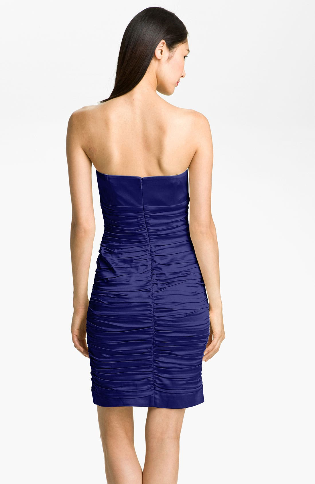 Alternate Image 2  - Calvin Klein Ruched Satin Sheath Dress