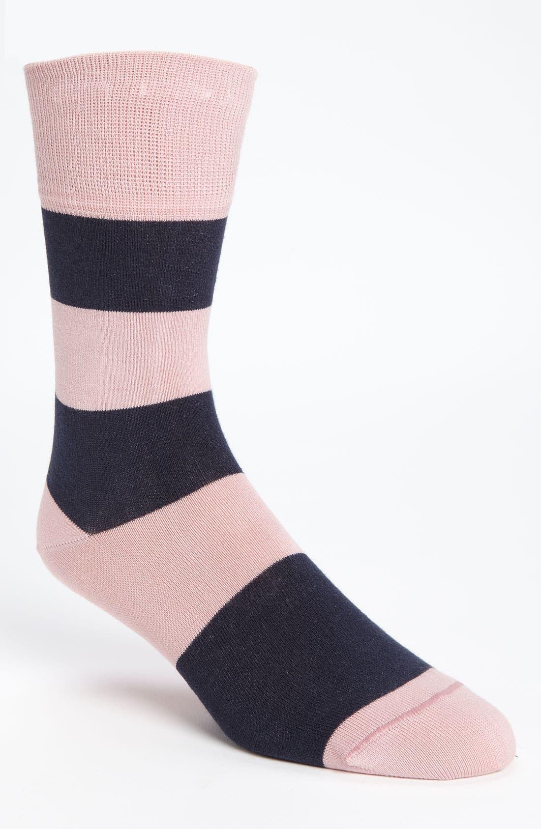 Alternate Image 1 Selected - ugly vix by V.K. Nagrani Rugby Stripe Socks