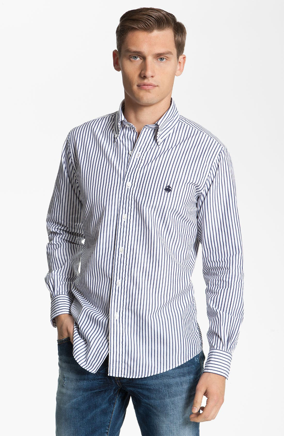 Alternate Image 1 Selected - Brooks Brothers by Jeffrey Stripe Woven Shirt