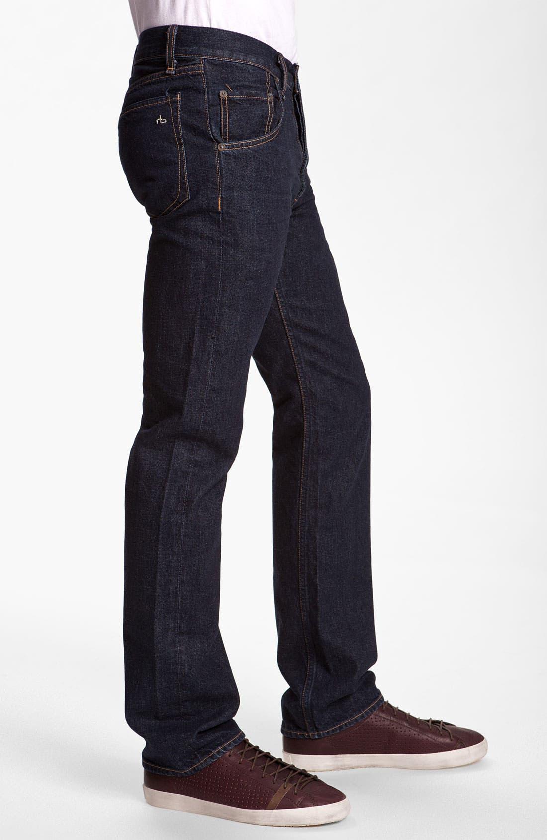 Alternate Image 3  - rag & bone 'RB11X' Straight Leg Jeans