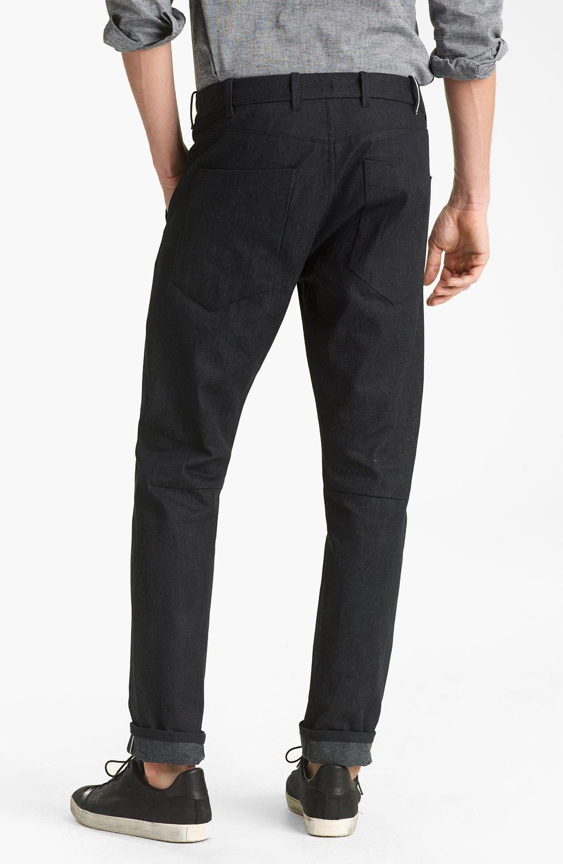 Main Image - Rogan 'Tunnel' Tapered Trouser Jeans (Indigo)
