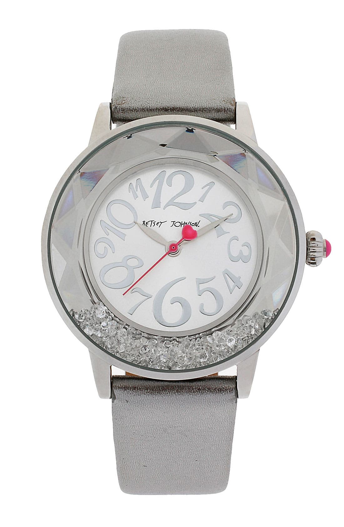 Alternate Image 1 Selected - Betsey Johnson Loose Crystal Bezel Watch