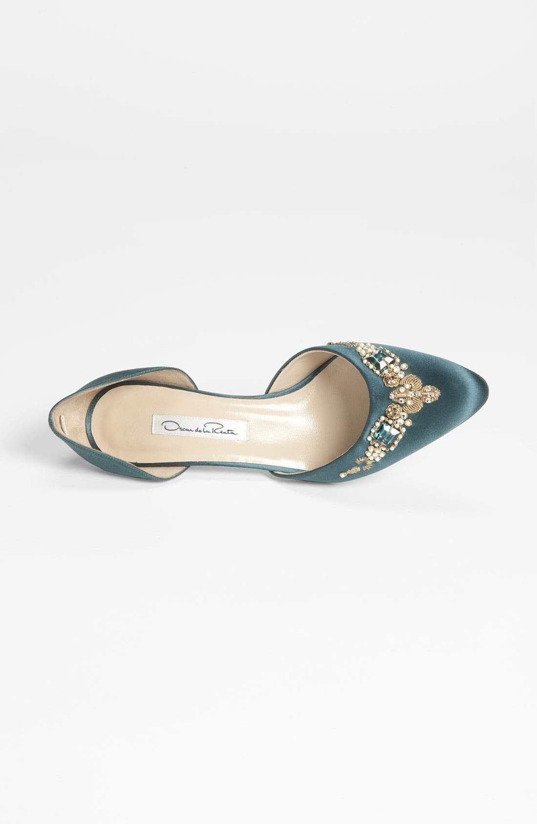 Alternate Image 3  - Oscar de la Renta 'Binato' Beaded Satin d'Orsay Pump