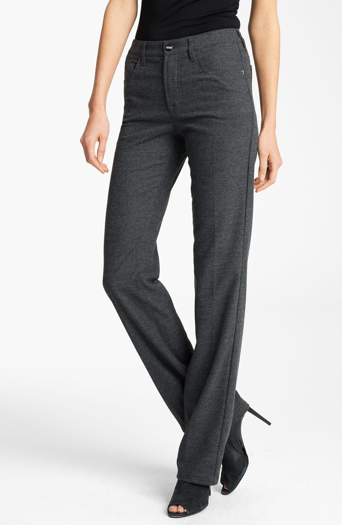 Alternate Image 1 Selected - Armani Collezioni 5-Pocket Stretch Wool Pants