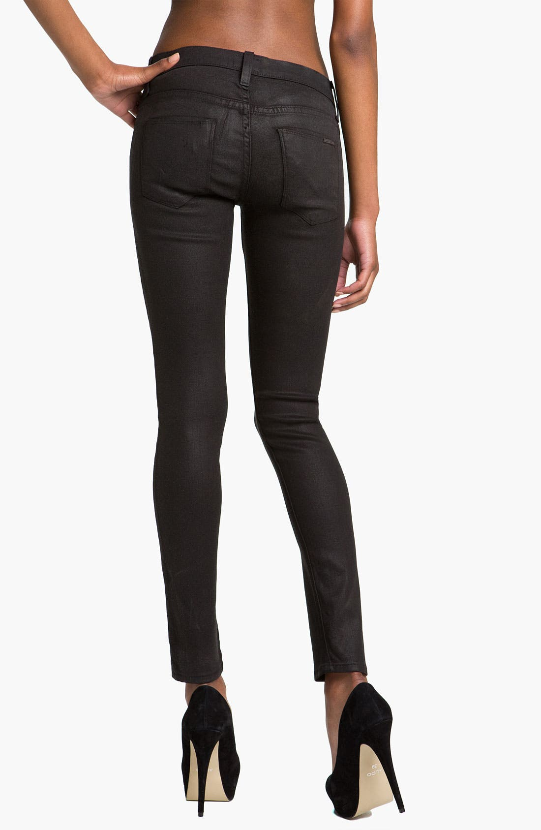 Alternate Image 2  - Hudson Jeans 'Krista' Super Skinny Jeans (Black Wax)