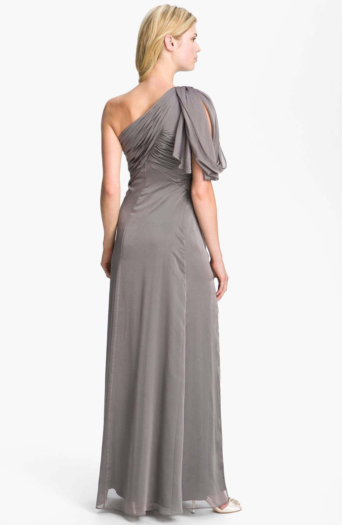 Alternate Image 2  - Adrianna Papell Pleated One Shoulder Gown