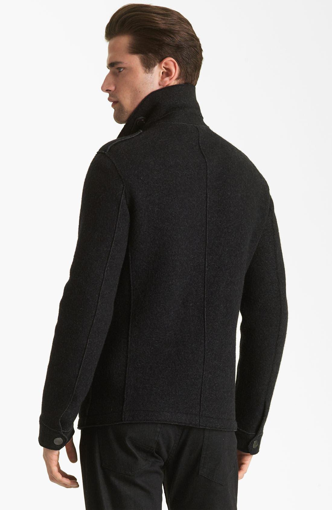 Alternate Image 2  - Armani Collezioni Boiled Wool Military Jacket