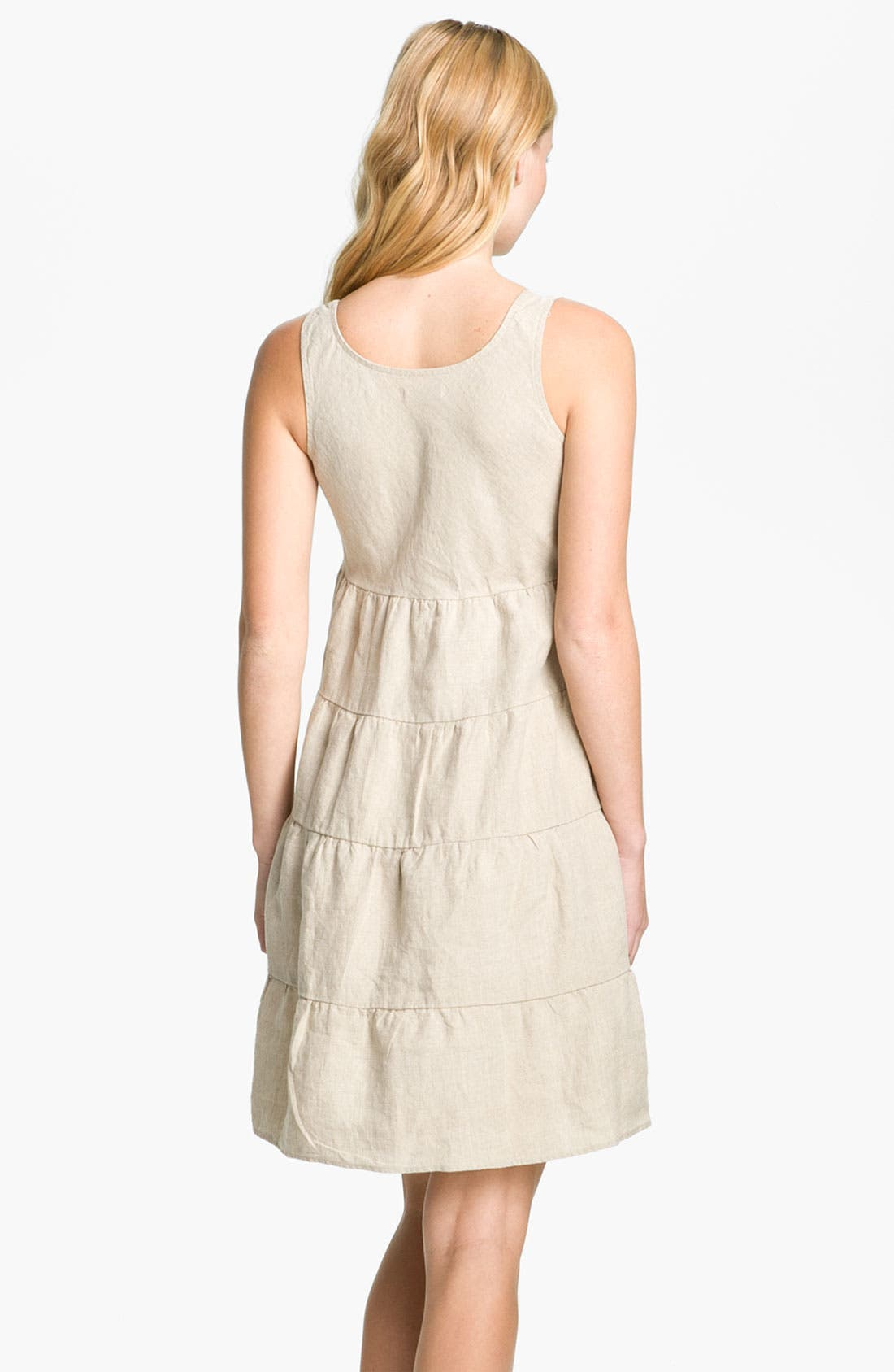 Alternate Image 2  - Allen Allen Linen Dress