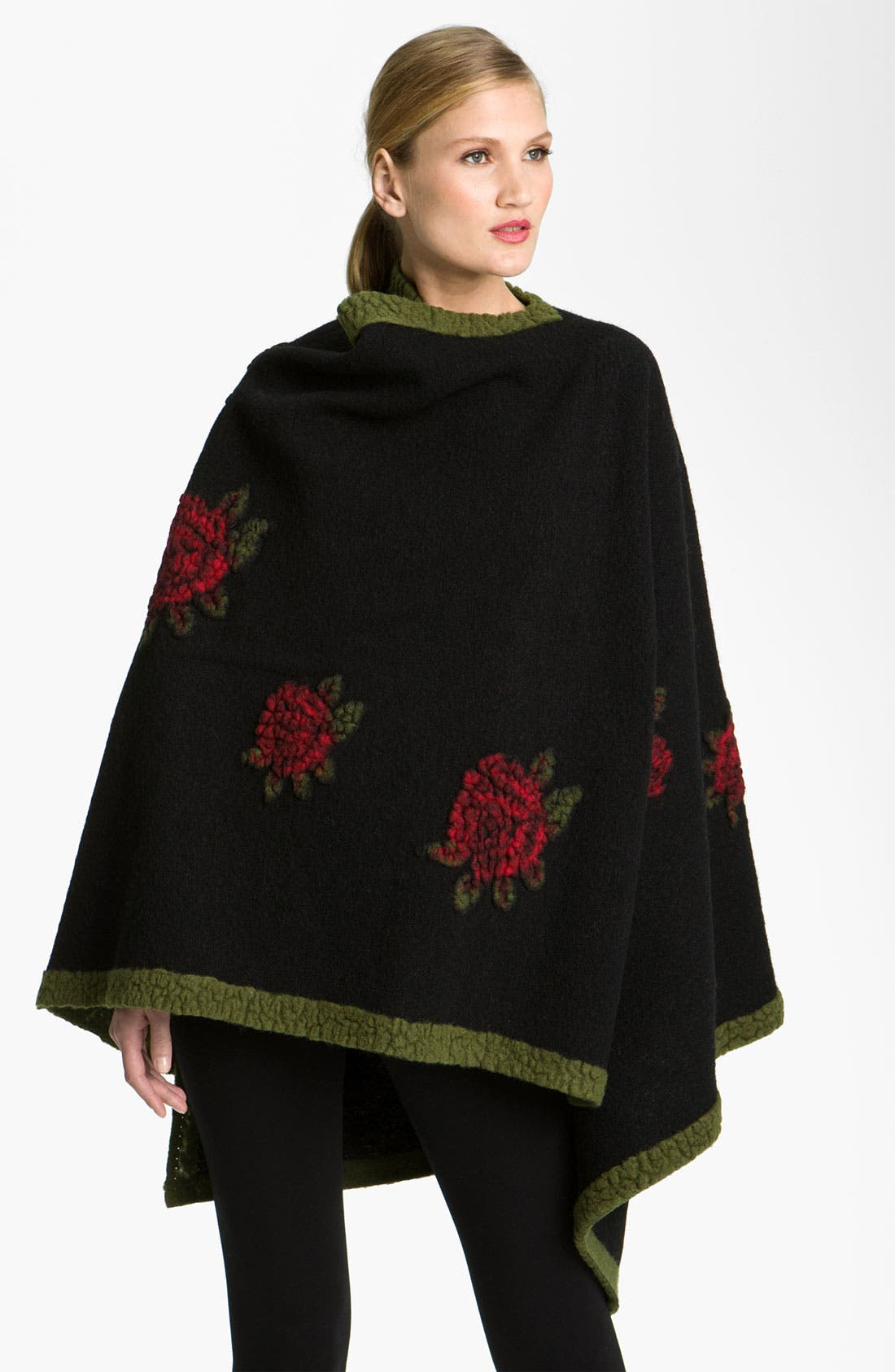 Alternate Image 1 Selected - Nordstrom Collection Jacquard Flower Cape