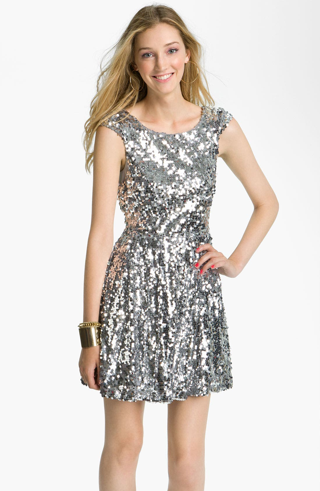 Alternate Image 1 Selected - Trixxi Sequin Dress (Juniors)