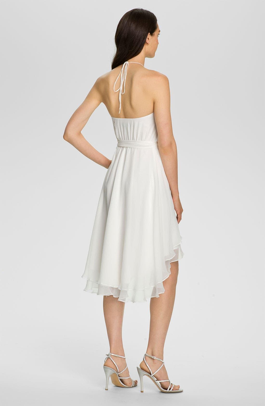 Alternate Image 2  - Alexia Admor Draped Chiffon Halter Dress
