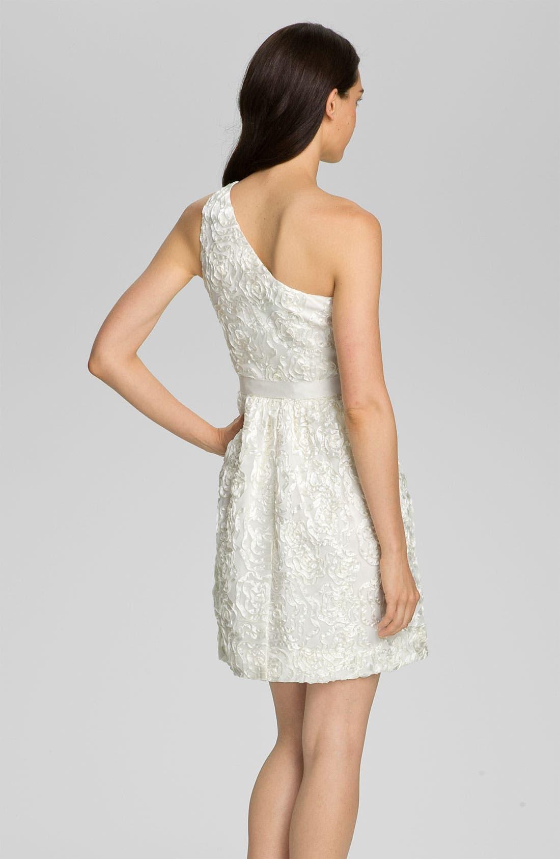Alternate Image 2  - Jill Stuart One Shoulder Soutache Tulle Dress