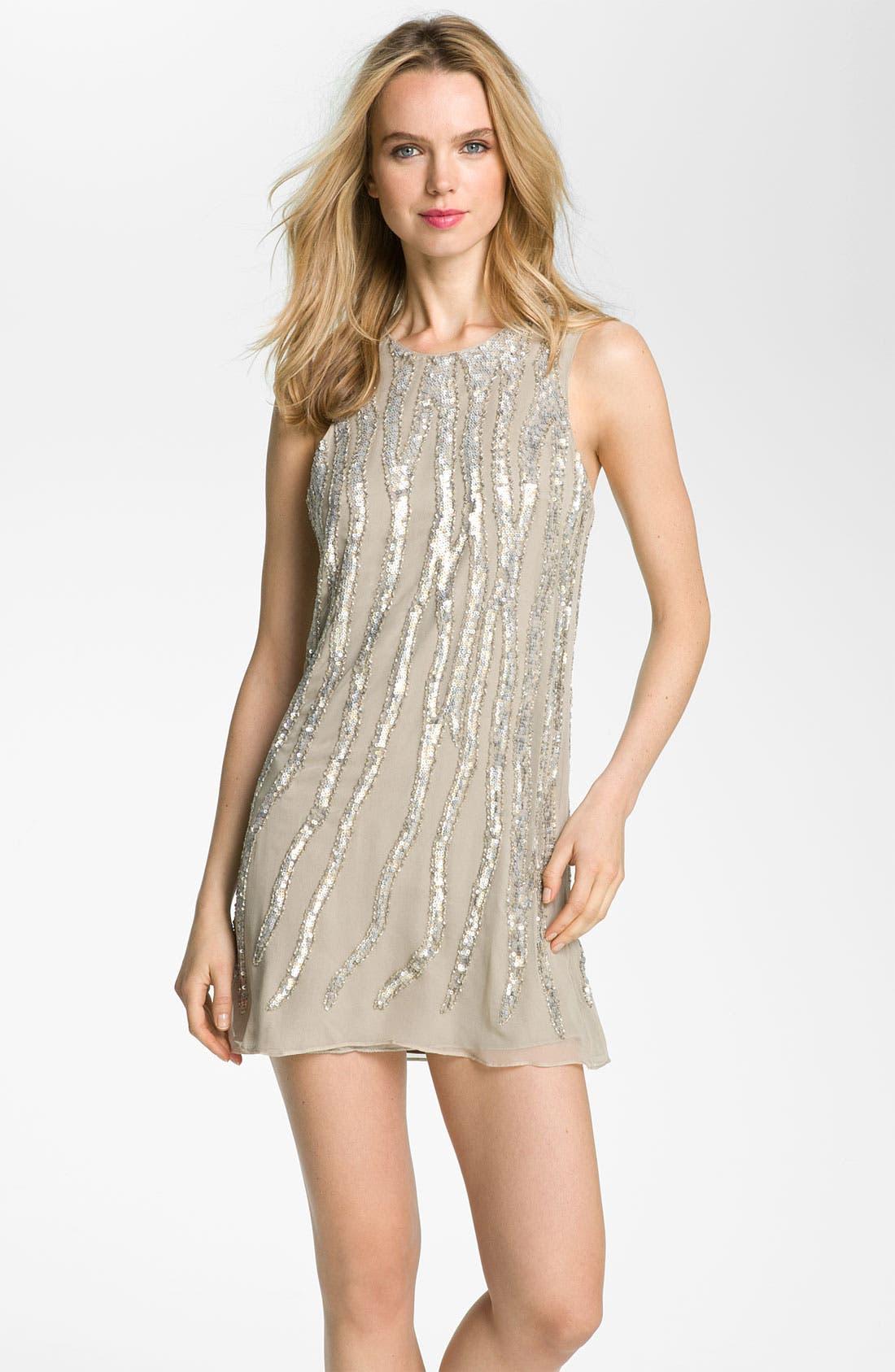 Alternate Image 1 Selected - Parker Embellished Silk Tank Dress