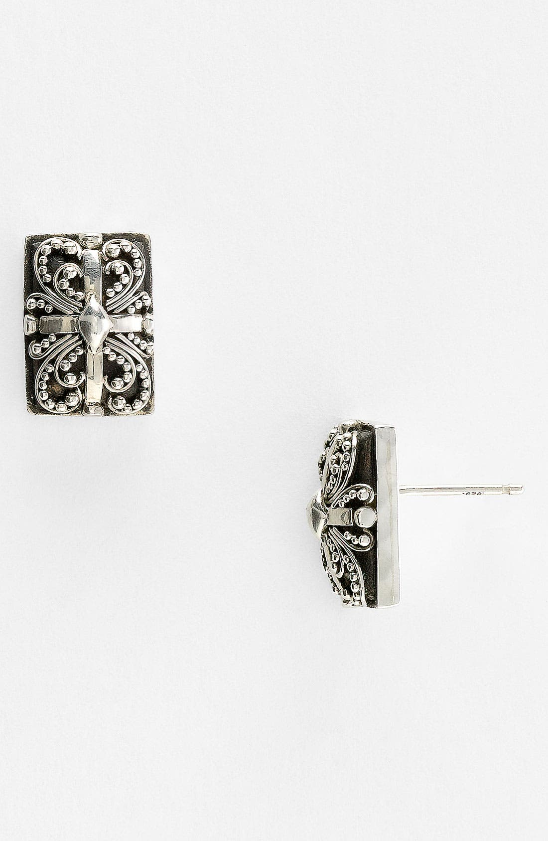 Alternate Image 1 Selected - Lois Hill 'Haveli' Rectangular Stud Earrings