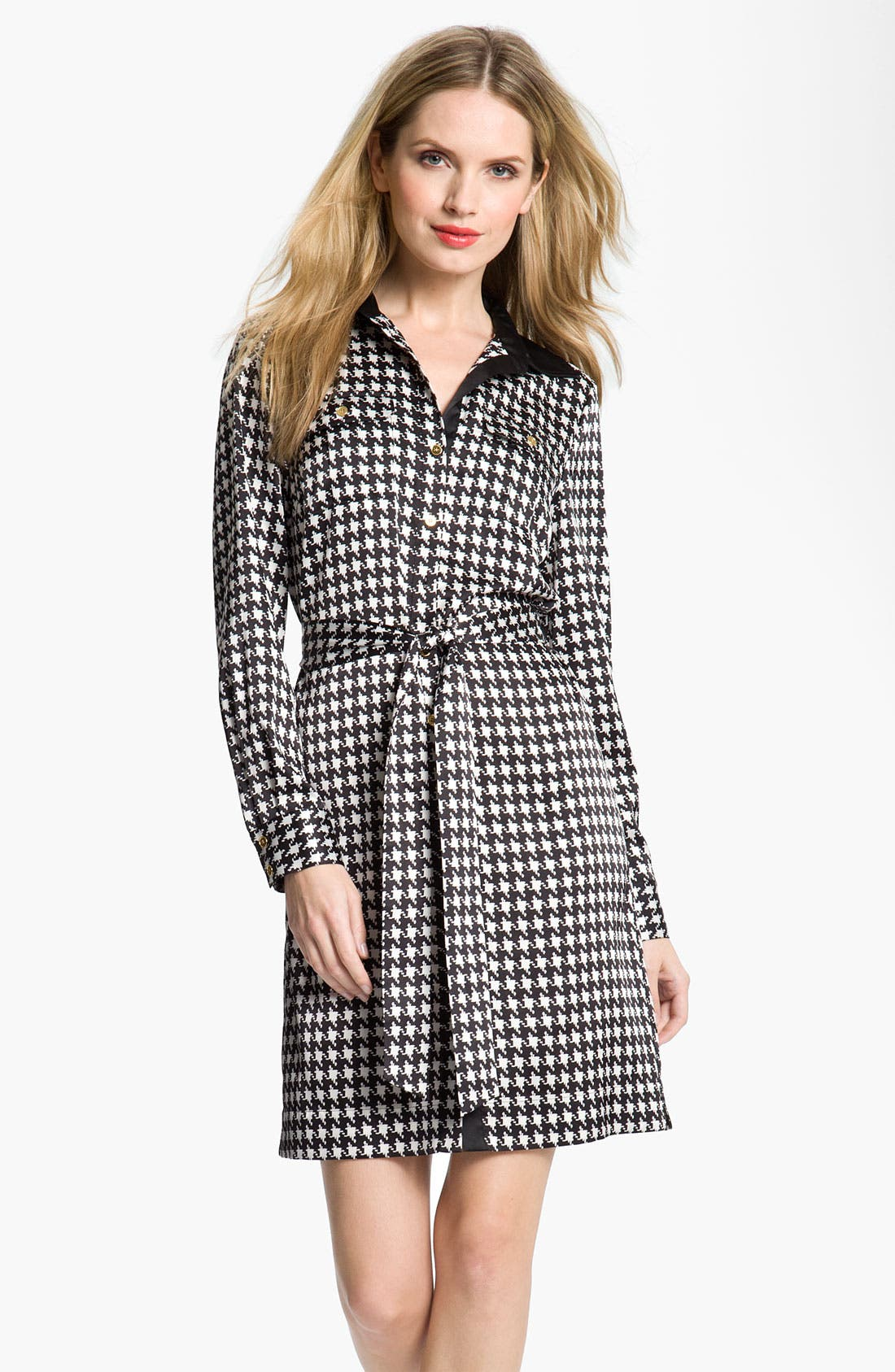 Alternate Image 1 Selected - Chaus Houndstooth Shirtdress