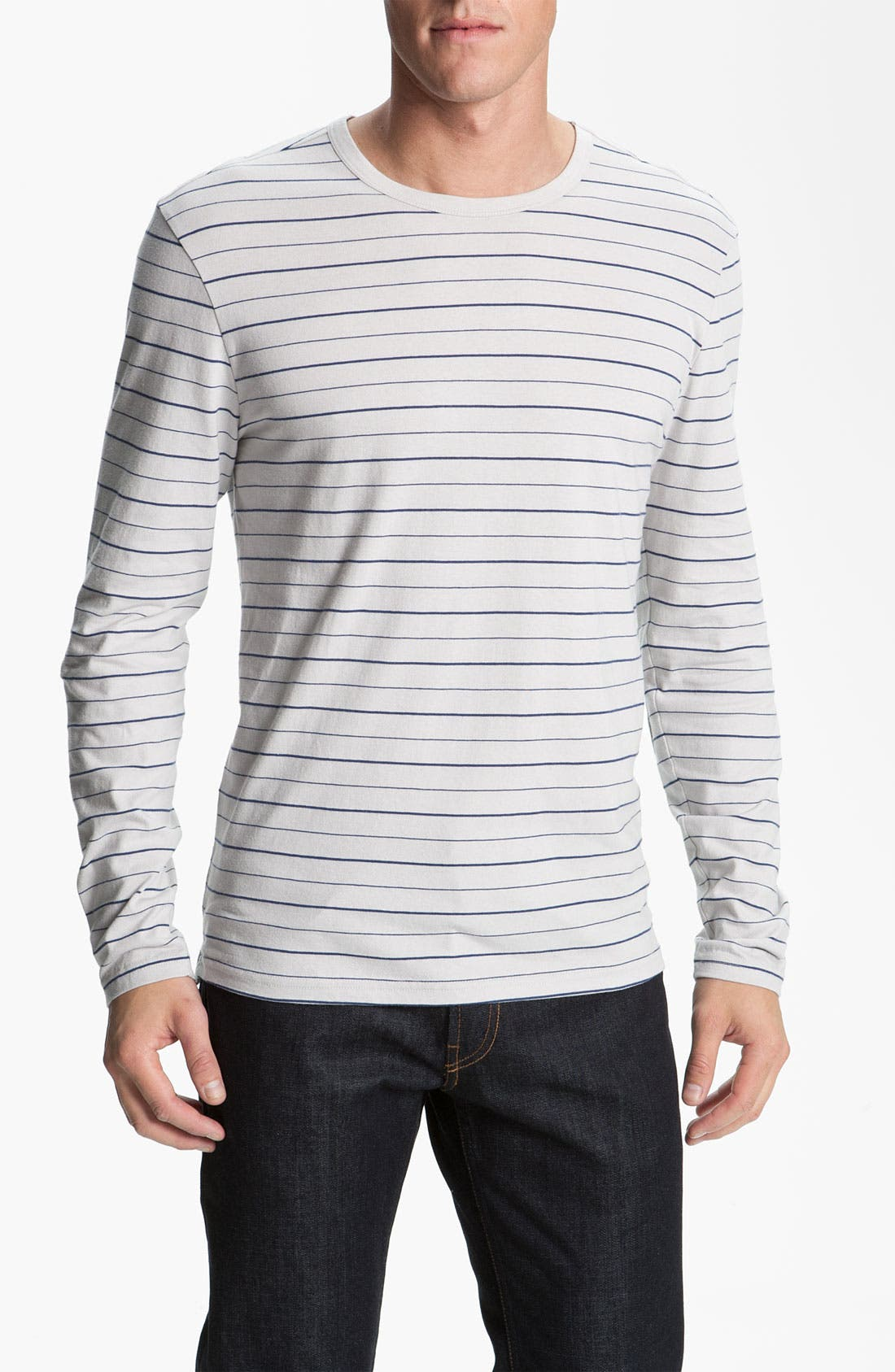 Main Image - 1901 Stripe Long Sleeve T-Shirt
