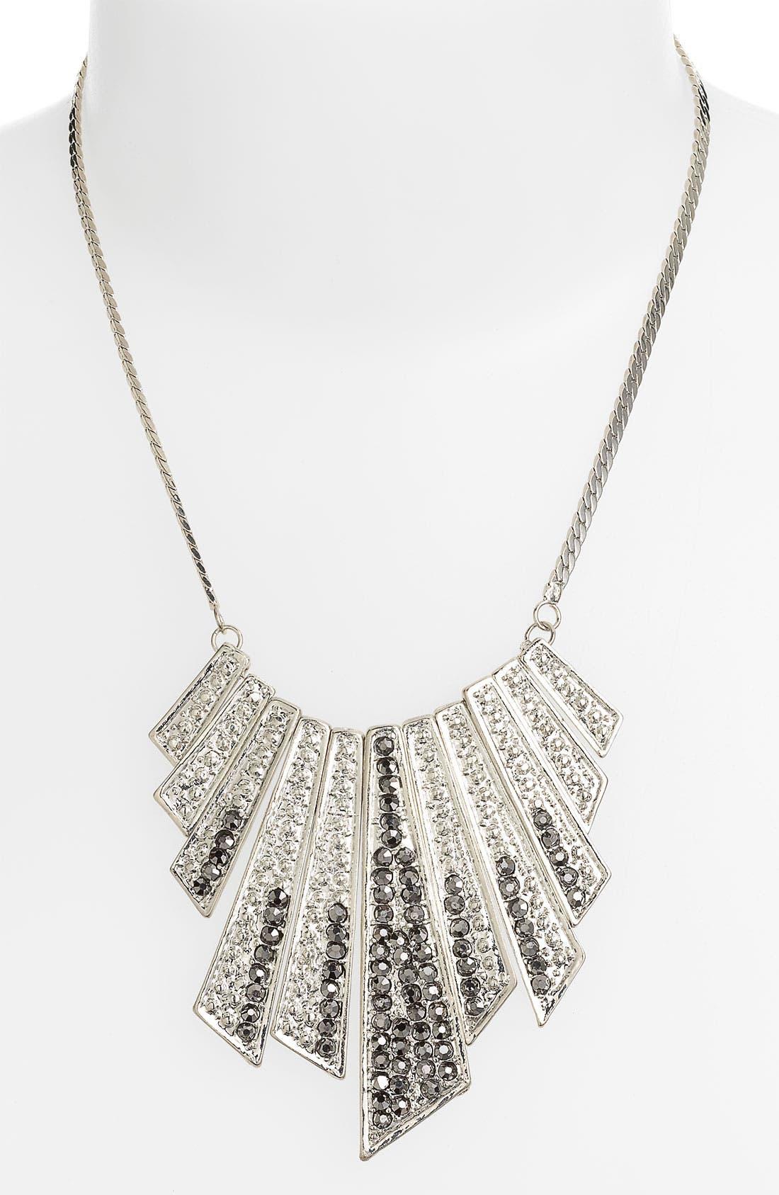 Main Image - BP. 'Rhinestone Shard' Bib Necklace