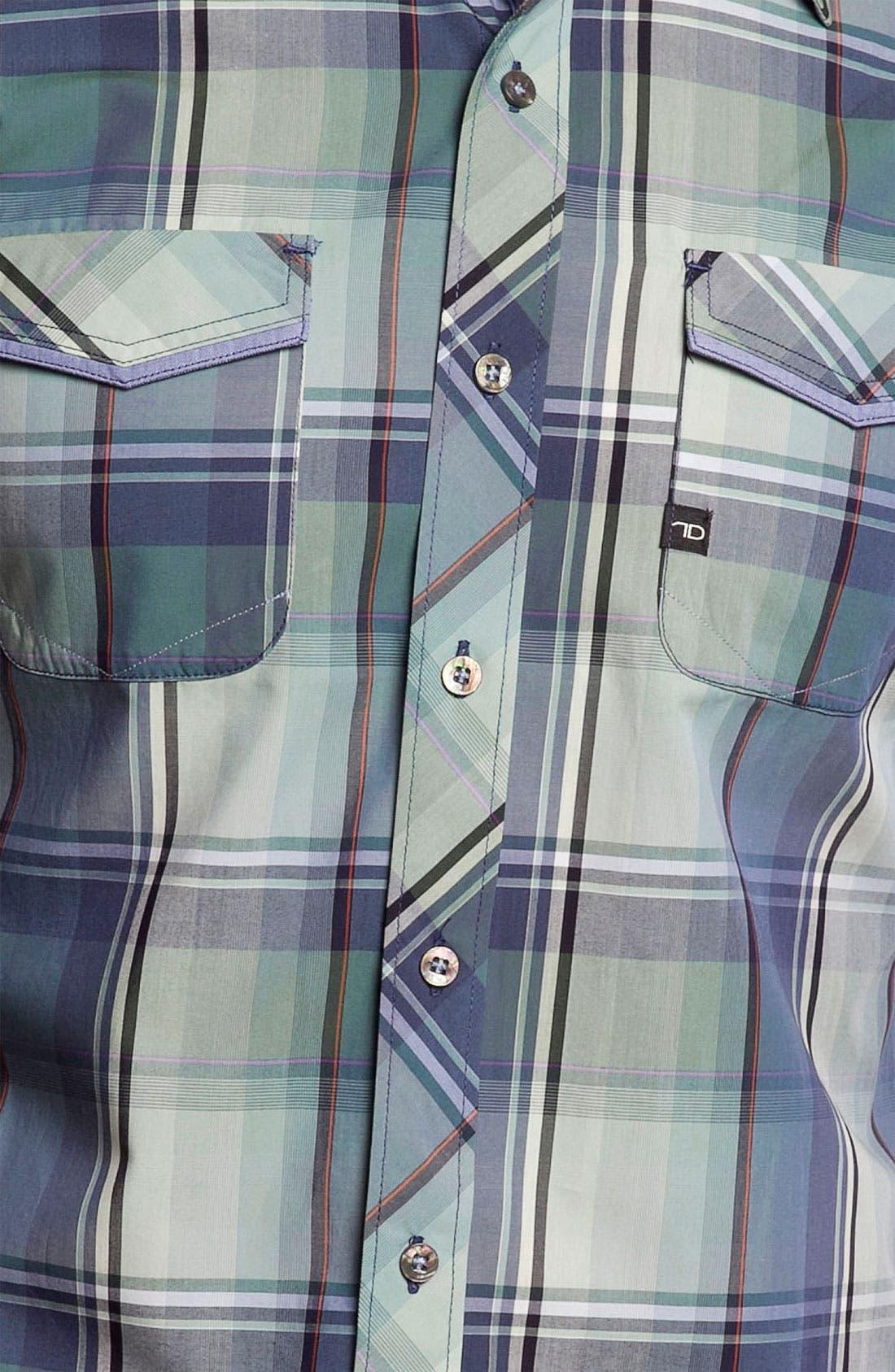 Alternate Image 3  - 7 Diamonds 'Green Eyed Love' Plaid Woven Short Sleeve Shirt