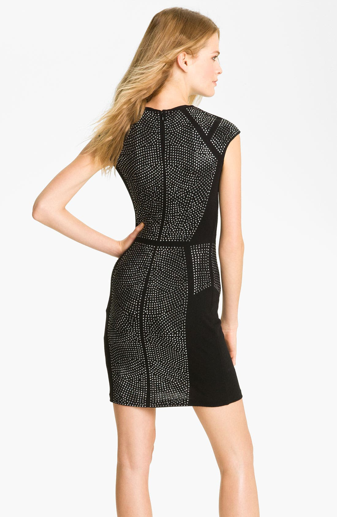 Alternate Image 2  - Rebecca Taylor 'Nailhead' Studded Sheath Dress